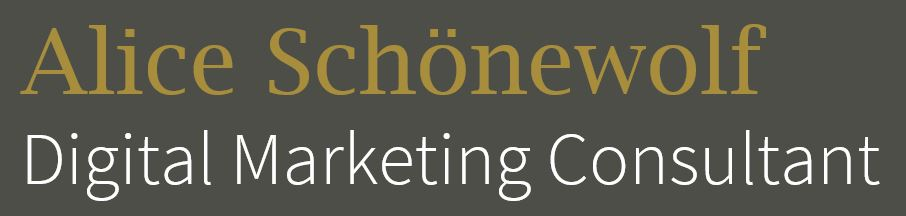 Logo Alice Schönewolf Digital Marketing Consultant